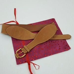 J. McLaughlin brown leather belt women size S/M